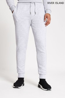 River Island Grey Marl Slim Prolific Joggers
