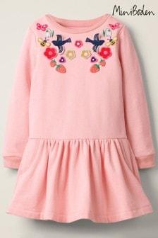 Boden Pink Cosy Appliqué Dress