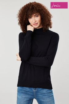 Joules Black Orianna Roll Neck Jumper