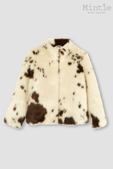Mintie by Mint Velvet Animal Faux Fur Coat