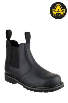 Amblers Safety Black FS5 Goodyear Welted Pull-On Safety Dealer Boots