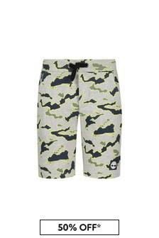 Timberland Grey Cotton Shorts