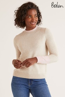 Boden Natural Fife Cosy Jumper