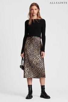 All Saints Black Hera Leopard Two-In-One Dress