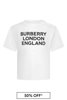 Burberry Kids Baby Girls Cotton Logo T-Shirt