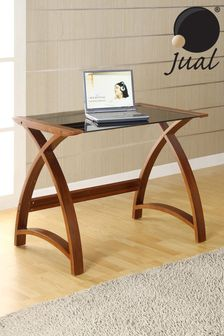 Helsinki 900 Walnut Laptop Table by Jual