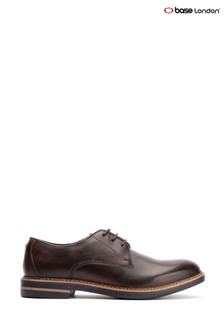 Base London® Brown Wayne Burnished Lace-Up Shoes