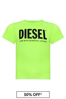 Diesel Baby Boys Green Cotton T-Shirt