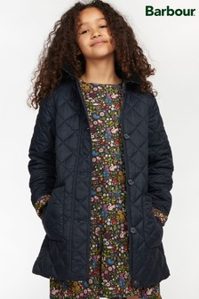 Barbour® Girls Navy Lovell Quilted Jacket