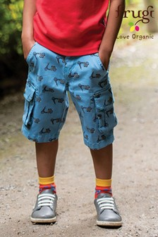 Frugi Organic Cotton Blue Scooters Cargo Shorts