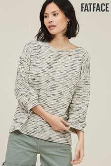 FatFace Natural Tess Textured Crew Top