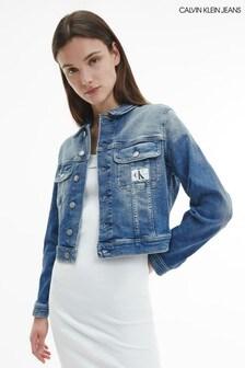Calvin Klein Jeans Blue Cropped 90'S Denim Jacket
