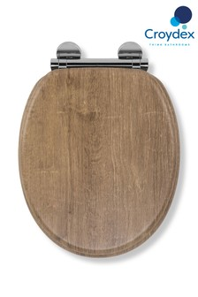 Croydex Ontario Wooden Toilet Seat