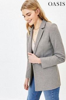 Oasis Grey Ponte Jacket