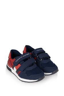 Boys Navy/Red Velcro Trainers