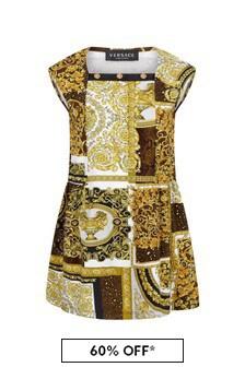 Versace Gold Cotton Dress
