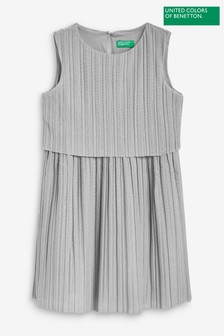 Benetton Silver Pleat Dress