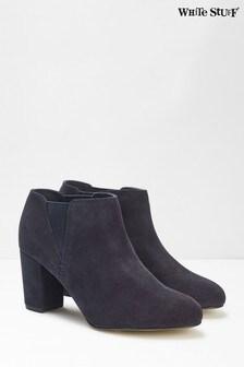 White Stuff Blue Lottie Smart Shoe Boots