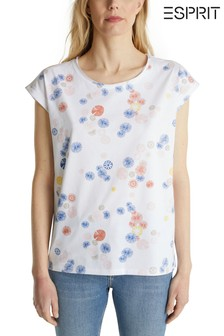 Esprit White Printed T-Shirt