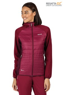 Regatta Purple Womens Andreson V Hybrid Baffle Jacket