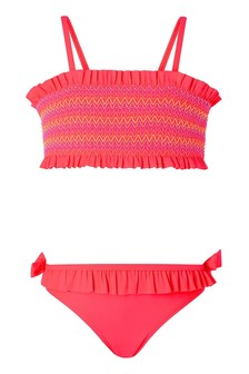 Accessorize Pink Smocked Bikini