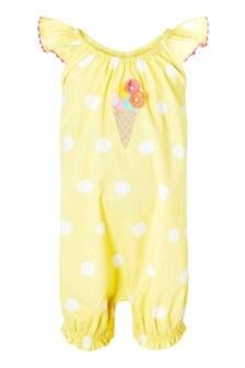 Monsoon Yellow S.E.W. Newborn Baby Ice Cream Romper