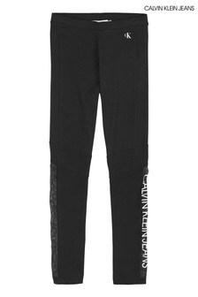 Calvin Klein Black Mesh Logo Leggings