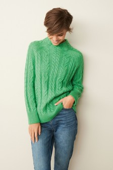 High Neck Cable Jumper