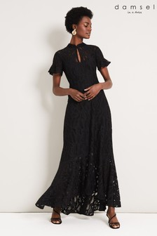 Damsel In A Dress Black Lulu Lace Maxi Dress