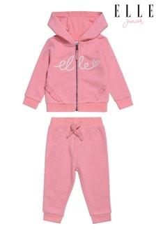 ELLE Pink Branded Jog Set