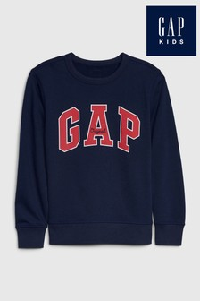 Gap Blue Logo Crew Sweatshirt