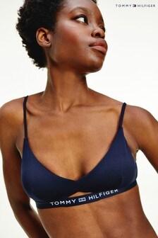 Tommy Hilfiger Blue Core Solid Bikini Bralette