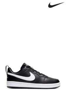 Nike Black/White Court Borough Youth Trainers