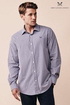Crew Clothing Company Purple Crew Classic Tattersall Shirt