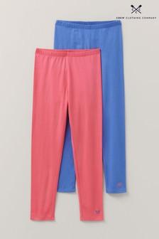 Crew Clothing Blue Plain Leggings Two Pack