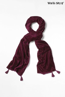 White Stuff Purple Plain Velvet Scarf