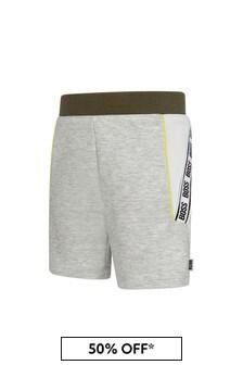 Boss Kidswear BOSS Baby Boys Grey Cotton Shorts