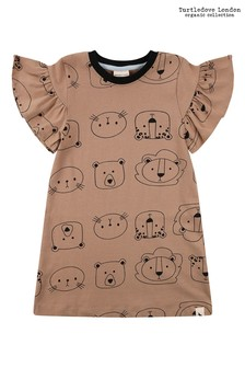 Turtledove London Organic Rust Cub Face Dress