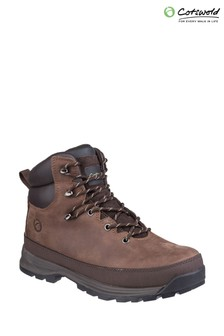 Cotswold Brown Sudgrove Lace-Up Boots