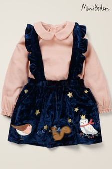 Boden Navy Christmas Pinny Play Set