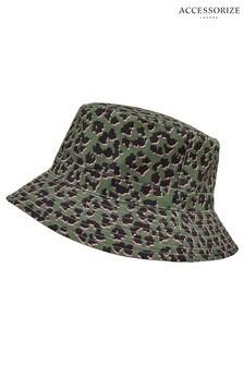 Accessorize Leopard Downbrim Bucket Hat