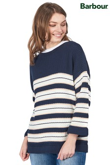 Barbour® Coastal Navy Stripe 3/4 Sleeve Newhaven Jumper