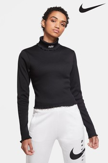 Nike Femme Ribbed Roll Neck Top