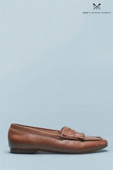 Crew Clothing Tan Fringed Loafers