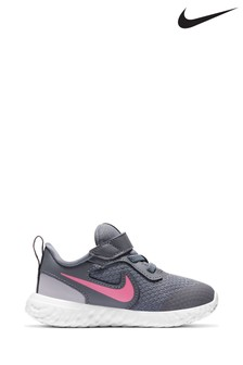 Nike Run Grey/Pink Revolution 5 Infant Trainers