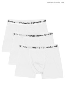 French Connection White Boxers Three Pack
