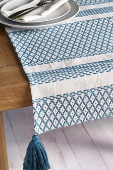 Woven Tile Table Runner