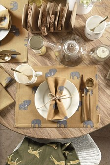 Set of 4 Sophie Allport Elephant Napkins
