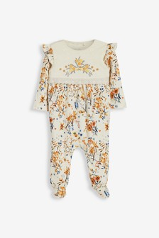 Smart Floral Sleepsuit (0mths-2yrs)