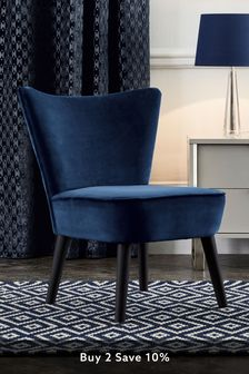 Ella Accent Chair With Black Legs